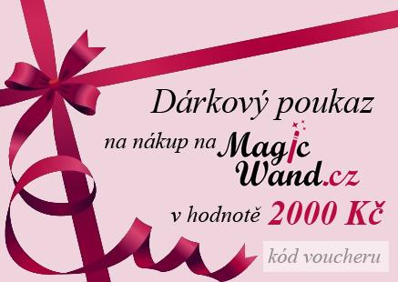Elektronický dárkový poukaz na nákup zboží na MagicWand.cz v hodnotě 2000 Kč