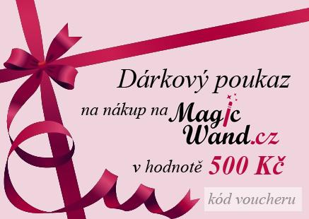 Elektronický dárkový poukaz na nákup zboží na MagicWand.cz v hodnotě 500 Kč