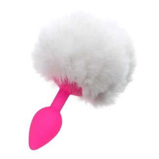 Nona Anální kolík králičí ocásek Bílá, Růžová