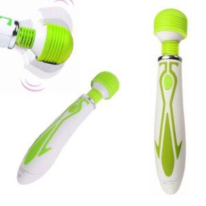 60-rychlostní vibrační Magic Wand Bullet - zelený