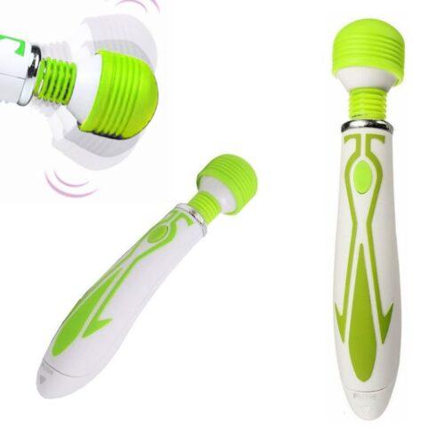60-rychlostní vibrační Magic Wand Bullet – zelený