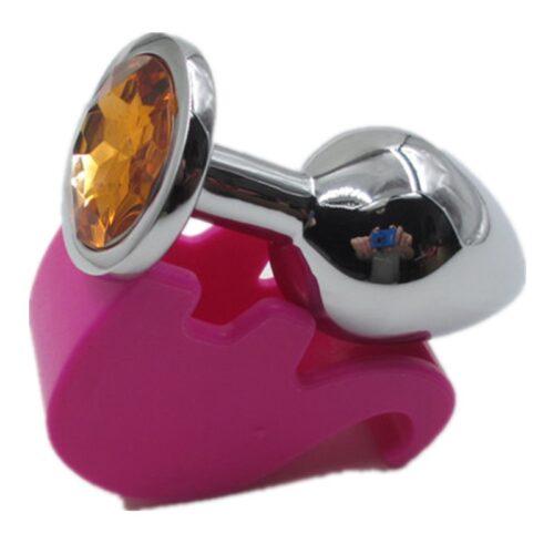 HTB1JJ.aJFXXXXXwXFXXq6xXFXXXE 500x500 - Ocelový anální kolík s kamínkem velikost S - oranžový