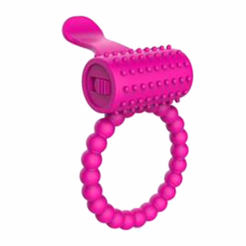 Tongue vibrating ring - vibrační kroužek růžový