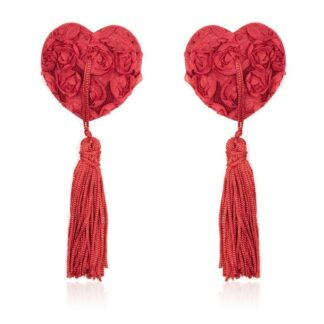 Nepojmenovaný 111 324x324 - Srdcové nálepky na bradavky s třásněmi - červené